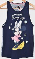 MINNIE MOUSE Primark Vest DISNEY T Shirt Split Back Womens UK Sizes 4 to 8