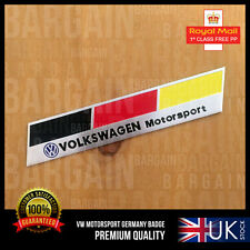 VW R LINE GERMANY SPORT VERTICAL BADGE POLO GOLF JETTA TSI GT TDI PASSAT EXHAUST