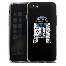 Apple iPhone 7 Silikon Hülle Case - R2-D2 Typo