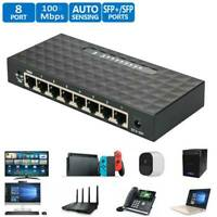 10/100/1000Mbps 8 Port Fast Ethernet LAN Desktop RJ45 Network Switch HubAdapter