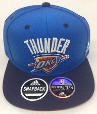NBA Oklahoma City Thunder Adidas Logo Under Brim Snap Back Cap Hat Style #VX17Z