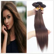 """18""""-28""""inch Medium Brown #4 Straight Human Hair 200G 1/4Bundles Human Hair Weave"""