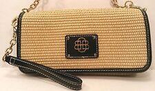 DANA BUCHMAN Straw Women's Handbag Wristlet Clutch Purse Shoulder Small Bag EUC