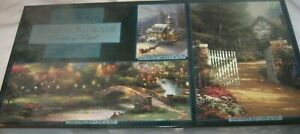 Factory Sealed Thomas Kinkade Deluxe Jigsaw Puzzle set, 3 puzzles 100 to 700 pc