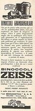 W2596 Binoccoli Grandangolari ZEISS - Pubblicità del 1935 - Old advertising