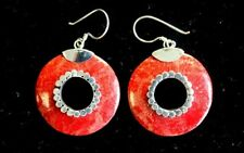 Coral Style Silver Earrings - Donuts