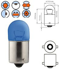 LAMPADINA 12V 5W BA15S BLU LUCE POSIZIONE AUTO LAMPADA POSTERIORE MOTO FRECCE