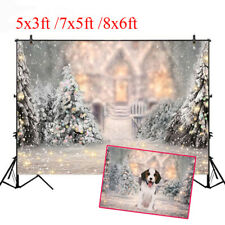 Snow Christmas Tree Christmas Background Cloth Photo Studio Backdrop Decoration