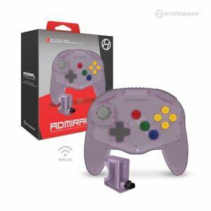 Clear Purple Hyperkin  Admiral Premium Bluetooth Wireless Controller for N64 #X2