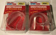Mueller Sport Care Adult Mouth Guard Lot Of 2 With Strap Football Basketball New