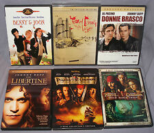 Johnny Depp DVD LOT: Donnie Brasco/Benny & Joon/Pirates of the Caribbean/ & More