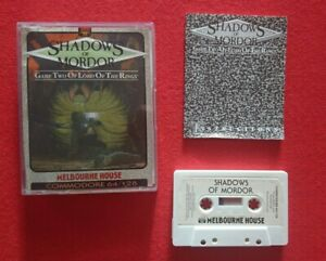 Shadows of Mordor Lord of the Rings 2 Commodore 64 Game Cassette C64 RARE