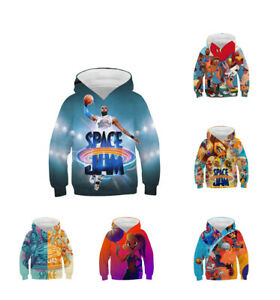 Youth Kids Space Hoodie 3D James Lola Bugs Taz Tune Sweater Warm X-Mas Gifts