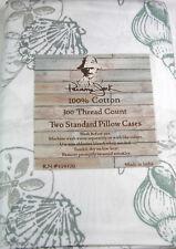 Panama Jack Standard Pillowcases Lazy Day/ Grey 100% Cotton 300 TC Set of 2
