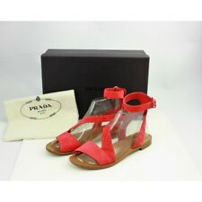 Prada Red Suede Leather Ankle Wrap