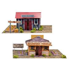 1/64 Slot Car HO Garden Houses Photo Real Scale Kit Model Diorama Scenery Sets