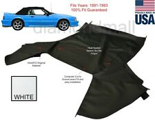 Ford mustang Convertible Soft Top Replacement 1991-1993 Top Only WHITE Pinpoint