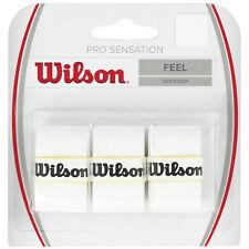 MANGO PROFESIONAL WILSON SENSATION BLANCO 3x GRIPS DE TENIS,PADEL Tenis,
