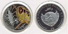 2010 Palau Proof Color Silver $1-Grasshopper-rare-mintage 1000