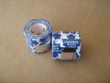 2 Rolls of NHL Toronto Maple Leafs Logo White Cloth Tape 38mm x 5m