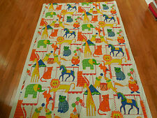"BTHY, 50"" Wide, Vintage Bright Colorful Circus Animals, for Curtains, Etc, C1166"