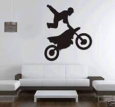 Bike Motocross Wall Art Sticker Vinyl Huge Free Postage KId Boys Men