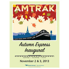 Amtrak Collector Pin Autumn Express Inaugural lapel  hat pin New n Package