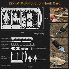 Kaeser Survival Card Tool 22-1 Fishing Hunting Hiking Bushcraft