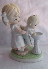 Homco Porcelain Little Girl And Baby At Drinking Fountain Figurine