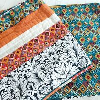"Lush Decor 20"" × 36"" Bohemian Quilted Pillow Shams Floral Geometric"
