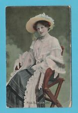 ACTRESS  -  B. B.  LONDON  POSTCARD  -  MISS  RUTH  VINCENT  -  1907