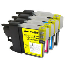 4 NON-OEM INK CARTRIDGE BROTHER LC-61 MFC-5895CW	MFC-J220 MFC-J270W MFC-J410W