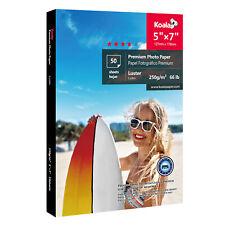 "Koala 50 Sheets 5x7"" Ultra Premium Luster Photo Paper Inkjet Printer Epson HP"