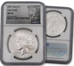 2021 P Peace Dollar NGC MS70