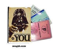 star wars 01-007 étui pochette carte grise carte d'identité permis