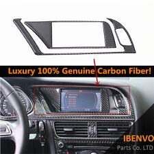 Genuine Carbon Fiber GPS Navigator Panel Trim Interior For Audi B8 A4 A5 S4 S5