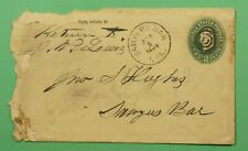 DR WHO 1894 DPO 1858-1960 SAWYERS BAR CA STATIONERY C241527