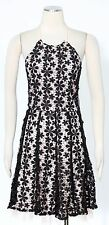 Jessica Simpson Black Pink Cocktail Shift Dress Size 6 Halter Women's New*