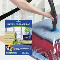 10 PACK XL Space Saver Extra Large Vacuum Storage Bags 90X70cm ZIPLOCK FAST SHIP