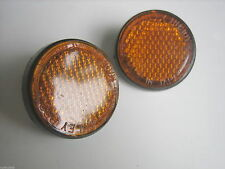 Pair New Suzuki A100 GT185 GT250 GT100 TS125 TS185 T125 AS50 Reflector Reflex LR