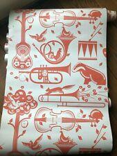 "Mini Moderns Wallpaper ""Pet Sounds"" in Harvest Orange"