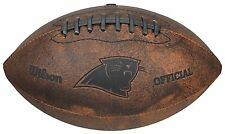 "OFFICIAL Carolina Panthers NFL LEATHER FOOTBALL 9"" Throwback Vintage Style Youth"