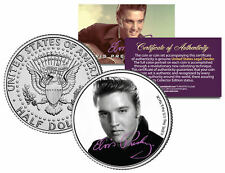 "Elvis Presley ""B & W Portrait"" JFK Kennedy Half Dollar US Coin *Licensed*"