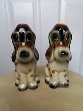 More details for vintage ceramic pair of  basset hound, sad dog jema  holland 924
