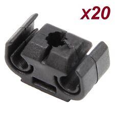 Car Brake Line Hose Clips Black Double Cable Holder Brackets Pack of 20 For VW