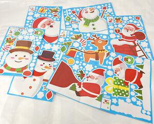 486 PCS Christmas Window Clings Decals Decorations Stickers Snowflake Deer Santa