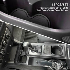 For 2016-2020 Toyota Tacoma Cup Holder Liner Insert Accessories Solid Black 18PC