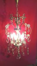 Particolare lampadario antico cristallo francese Old Chandelier Kristal