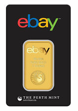 ebay & Perth Mint - 1oz Gold Bar .9999 Fine Gold in Assay Card