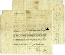 1827 ARREST WARRANT ROBERT BRUCE PHILIP LEVY by W POLAND Signed KYLE Ship Superb